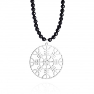 Collier femme | Rune de protection viking en argent & jade